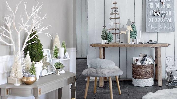 Ideas para decorar tu recibidor en navidad ideas y for Muebles decorados de navidad